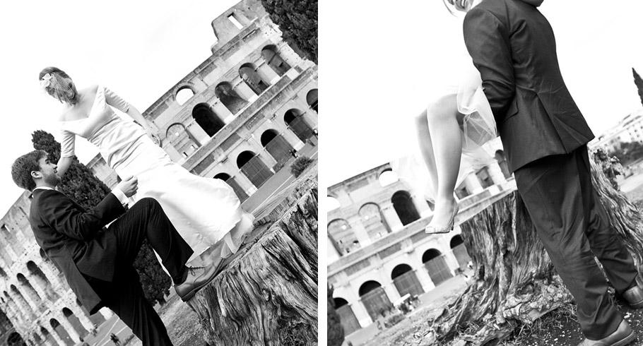 foto matrimonio americani a roma