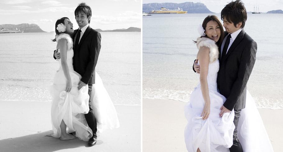 reportage di matrimonio di una coppia di sposi giapponesi in italia