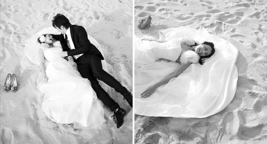 foto in bianco e nero dello studio fotografico pensiero