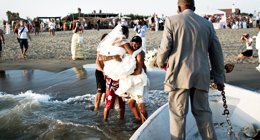 foto matrimonio mare roma