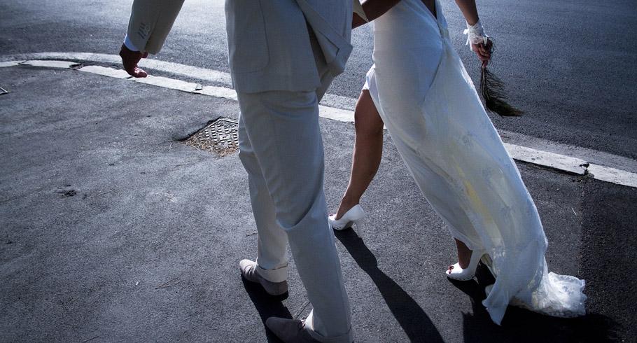 passeggiata sposi e fotografo matrimoni