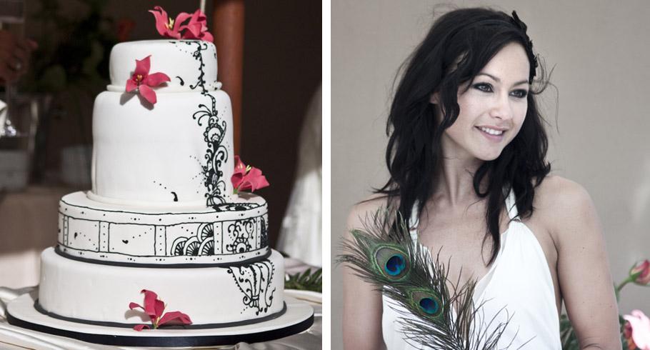 bellissima foto della torta di nozze