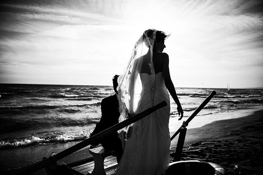 foto matrimonio mare fregene singita
