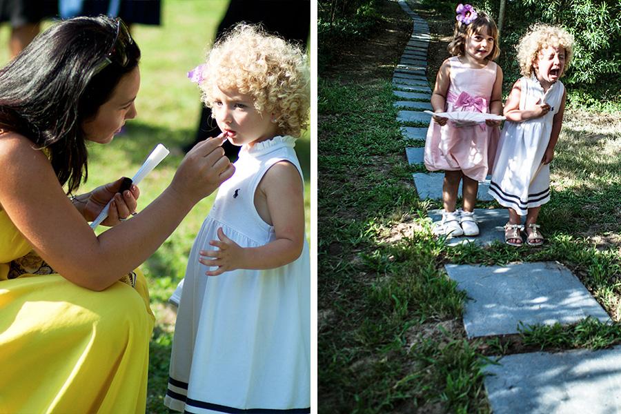 bambini ad un matrimonio. scatti spontanei di nozze