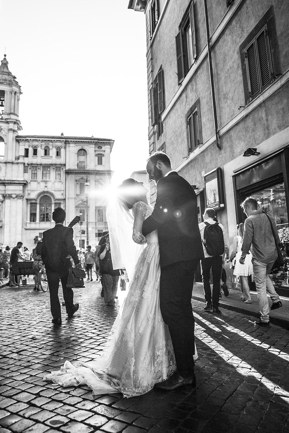 fotografo matrimonio Roma foto in bianco e nero