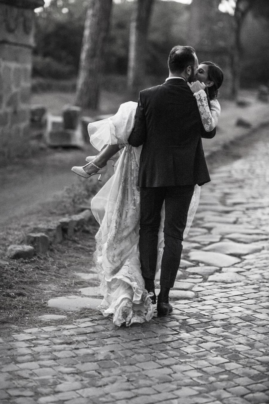 servizio fotografico matrimonio via appia antica roma