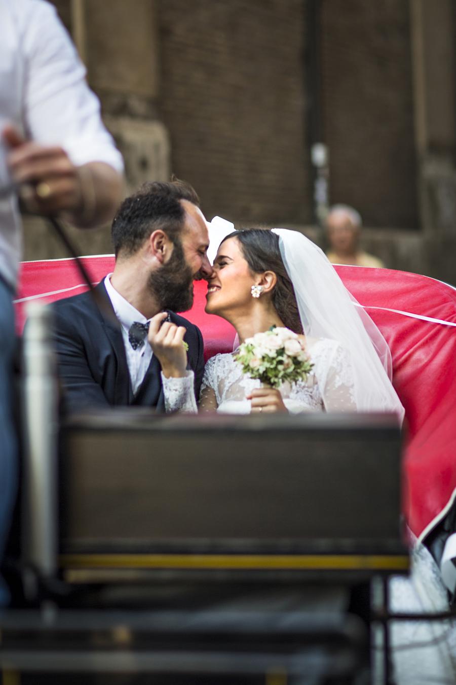 sposarsi a roma carrozza per il matrimonio